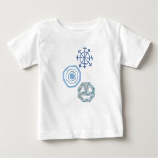 Camiseta Para Bebê Floco de neve especial nenhum t-shirt do bebê do