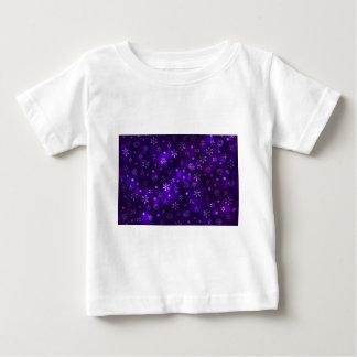 Camiseta Para Bebê Flocos de neve violetas