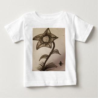 Camiseta Para Bebê flor coberta #1.