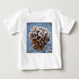 Camiseta Para Bebê Flor com cristais de gelo