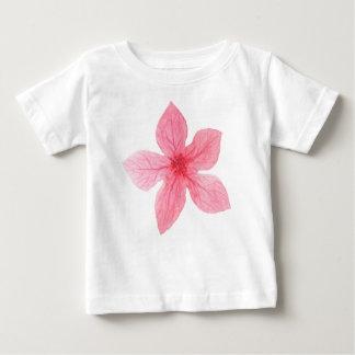 Camiseta Para Bebê flor cor-de-rosa da aguarela