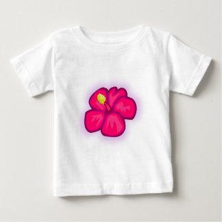 Camiseta Para Bebê Flor cor-de-rosa de Havaí