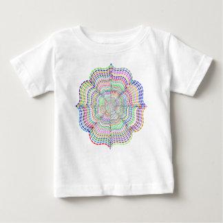 Camiseta Para Bebê Flor cromática da mandala do arco-íris