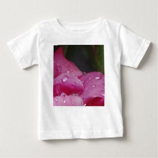 Camiseta Para Bebê Flor da gota da chuva