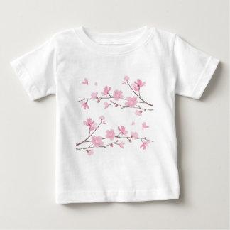 Camiseta Para Bebê Flor de cerejeira - Transparente-Fundo