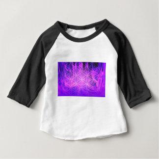 Camiseta Para Bebê Flor de chama violeta da vida