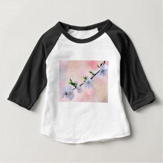 Camiseta Para Bebê Flor do pêssego