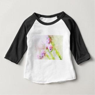 Camiseta Para Bebê Flor do rosa de mar