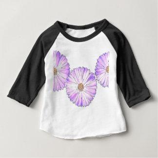 Camiseta Para Bebê Flor roxa
