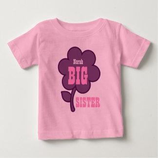 Camiseta Para Bebê Flor roxa V01A da IRMÃ MAIS VELHA conhecida feita