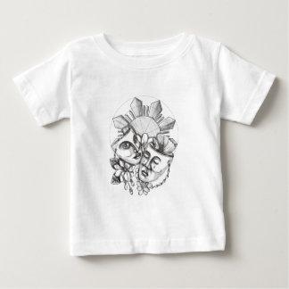 Camiseta Para Bebê Flor S filipino de Sampaguita do hibiscus da