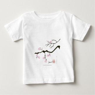 Camiseta Para Bebê flor tony de sakura dos fernandes e pássaro
