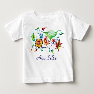 Camiseta Para Bebê Floral exótico Enchanting lunático chique elegante