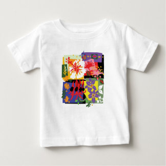 Camiseta Para Bebê Floral - t'shirts do bebê