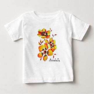 Camiseta Para Bebê Flores alaranjadas brilhantes - personalização