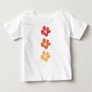 Camiseta Para Bebê Flores coloridas do hibiscus