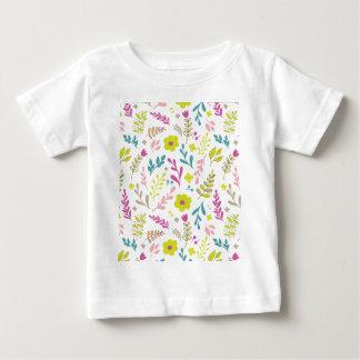 Camiseta Para Bebê Flores de Colorfull no branco