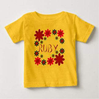 Camiseta Para Bebê Flores do RUBI