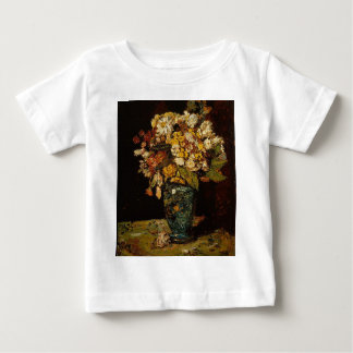 Camiseta Para Bebê Flores em um vaso