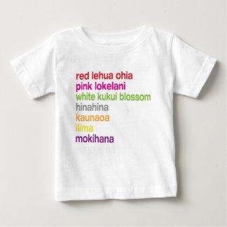 Camiseta Para Bebê Flores havaianas