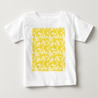 Camiseta Para Bebê Flores no amarelo do mel