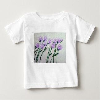 Camiseta Para Bebê Flores roxas