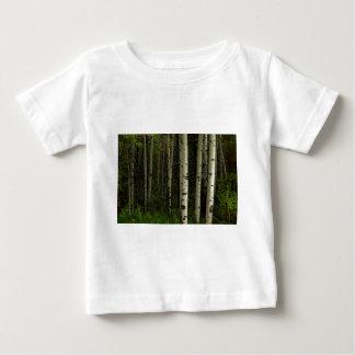 Camiseta Para Bebê Floresta branca