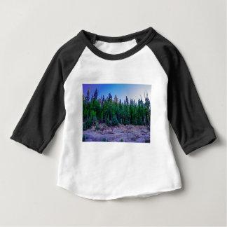 Camiseta Para Bebê Floresta & céu do vale de Yosemite