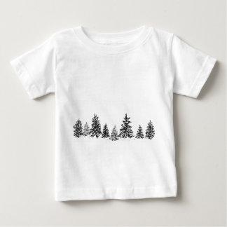 Camiseta Para Bebê Floresta do inverno
