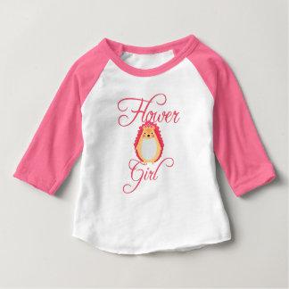 Camiseta Para Bebê Florista cor-de-rosa bonito do ouriço