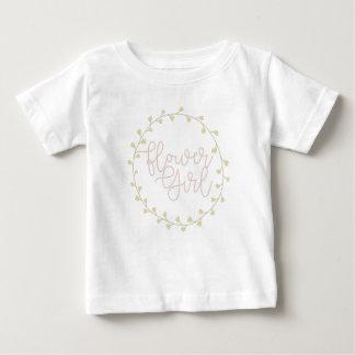 Camiseta Para Bebê Florista floral Pastel do redemoinho  