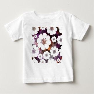 Camiseta Para Bebê Flower power roxo Funky