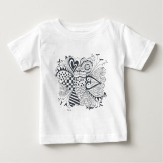 Camiseta Para Bebê FlowerofHearts