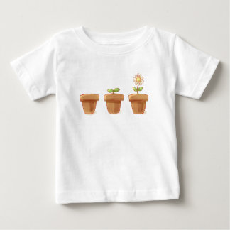 Camiseta Para Bebê Flowerpot bonito