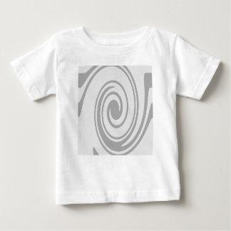 Camiseta Para Bebê Fluxo espiral cinzento do teste padrão esquerda