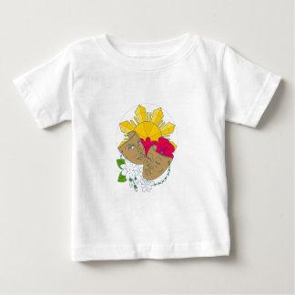 Camiseta Para Bebê Fluxo filipino de Sampaguita do hibiscus de Sun da