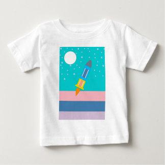 Camiseta Para Bebê foguete