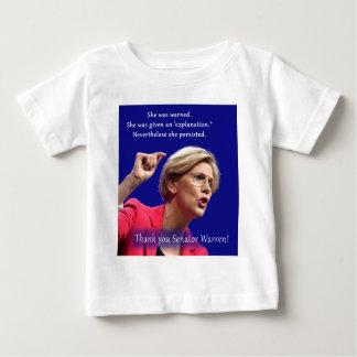 Camiseta Para Bebê Foi advertida