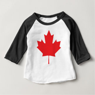 Camiseta Para Bebê Folha de bordo canadense