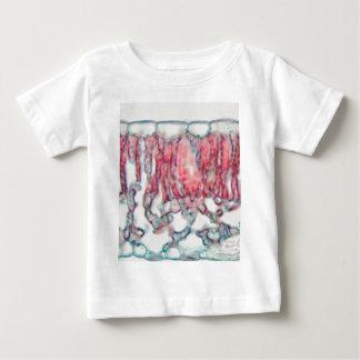 Camiseta Para Bebê Folha do algodão sob o microscópio
