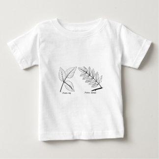 Camiseta Para Bebê Folhas botânicas do vintage