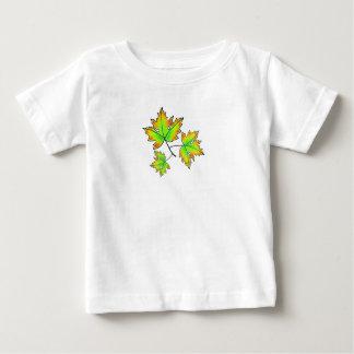 Camiseta Para Bebê Folhas de bordo