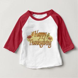 Camiseta Para Bebê Folhas felizes da queda da acção de graças
