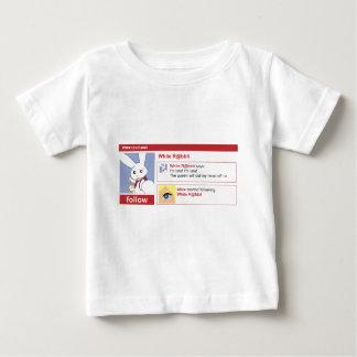 Camiseta Para Bebê Follow the withe rabbit