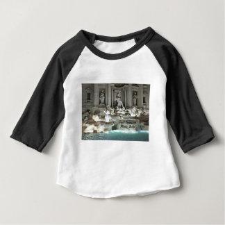 Camiseta Para Bebê Fonte do Trevi, Roma Italia