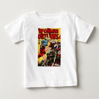 Camiseta Para Bebê Fora da lei da vaqueira