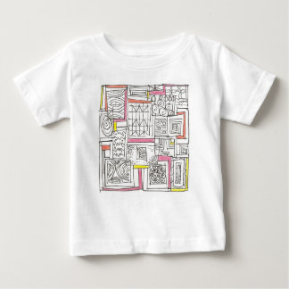 Camiseta Para Bebê Fora do Doodle geométrico do Caixa-Abstrato