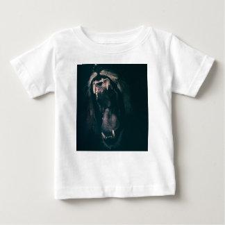 Camiseta Para Bebê Força irritada rujir do medo do rugido dos dentes