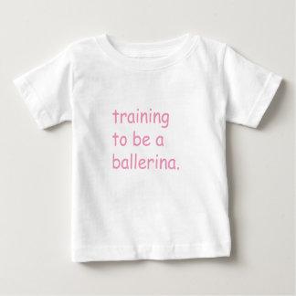 Camiseta Para Bebê Formação a ser uma bailarina