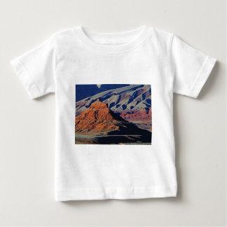 Camiseta Para Bebê formas naturais do deserto